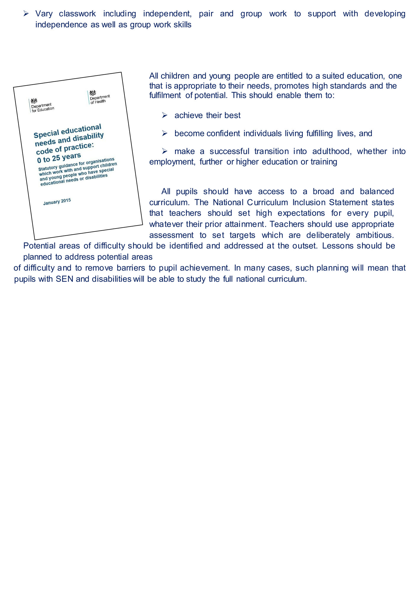 Guide to supporting pupils BPS 0001